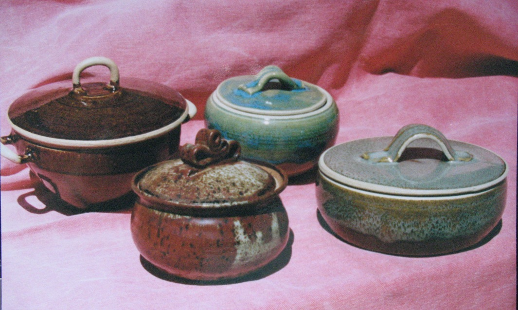Pots with lids